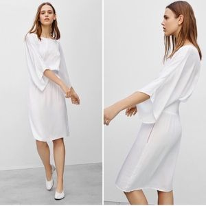 NEW Babaton Geordie Dress White Aritzia L